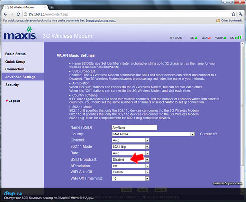 Securing Wireless Network Using Maxis WiFi Modem Step 12