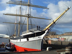 A Final View at Glasgow Harbour (cessna152towser) Tags: glasgow tallship sailingship barque glenlee