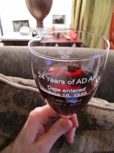 Retirement wine glasses