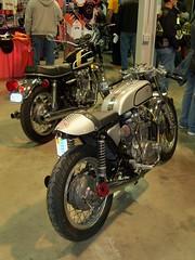 381 (speedfourjoe) Tags: cafe expo indianapolis indiana exposition motorcycle yamaha racer xs650 2011