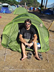 acampando en las islas Cíes