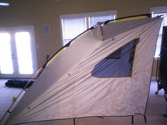 tent in the rumpus room