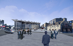 Rendered View Looking Across Dalry Road
