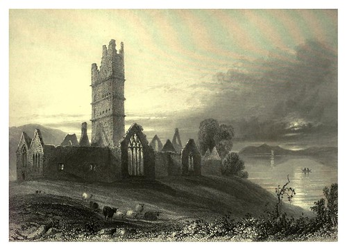008-Abadia de Moyne-The scenery and antiquities of Ireland -Vol I-1842-W. H. Bartlett