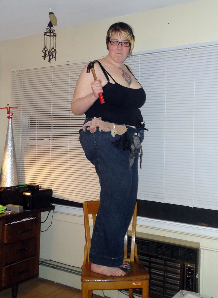 Nadja prepares to fight crime with her Bat Utility Belt