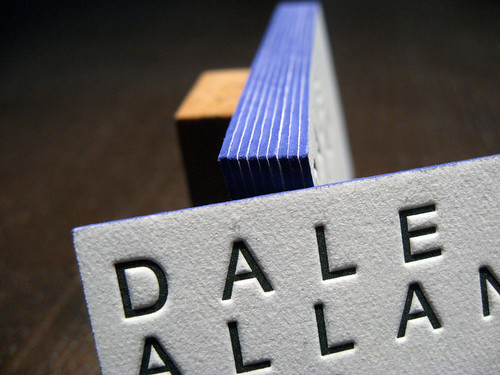 Letterpress Cards for Novelist Dale Allan