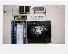 (Nick Leonard) Tags: door city vegas woman white streetart black art film artwork bars downtown fuji lasvegas nevada nick pinup address 6thstreet airconditioners instax instantfilm fujiinstax200 nickleonard fujiinstax210 100s6thstreet