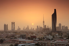 Kuwait City Skyline Sunset ( Saleh AlRashaid / www.Salehphotography.net) Tags: city sunset skyline canon landscape photo ray cityscape gulf photos middleeast arab ii lee 5d canon5d kuwait mk gcc kuwaitcity kuwaiti cpl singh  q8 algar  saleh  kuwaity  alkuwait     2470  gnd   f28l   kuwaitdesert kowait citynightshot stateofkuwait     kuwaitphoto kuwaitphotos kuwaitpic q8photo   q8pic   canon5dmarkii  alrashaid bnaid salehalrashaid salehphotographynet  kuwaitsanddunes