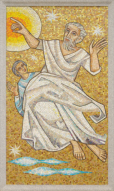 Resurrection Cemetery, in Affton, Missouri, USA - mosaic of heavenly figures