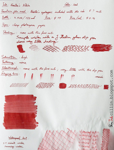 Noodler's Nikita ink on photocopier paper
