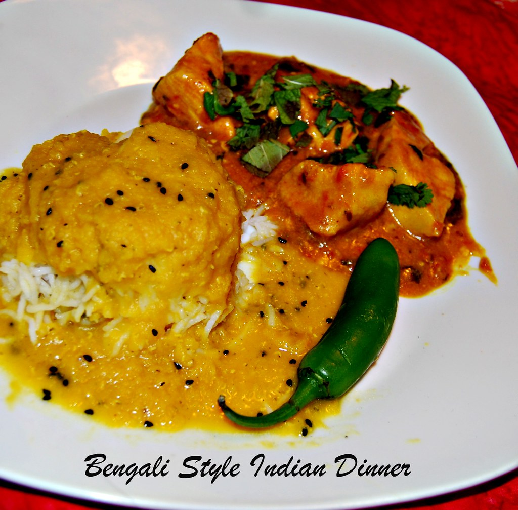 Bengali Style Indian Dinner