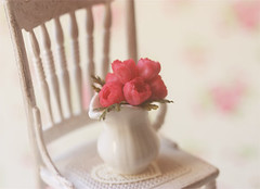 Dollhouse Miniature 1/12 Scale Pink Peonies