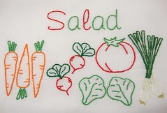 salad fixings (Kimberly Ouimet) Tags: green embroidery bigb greensalad embroiderypattern bigbgsd saladembroidery vegetableembroidery