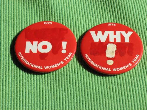International Women's Year buttons