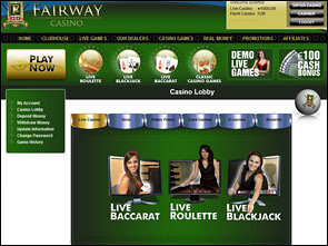 Fairway Live Casino Lobby