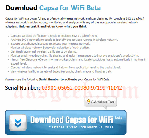 Download Capsa for WiFi Beta