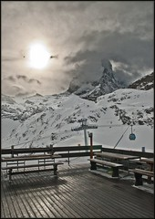 The Matterhorn in winter time. Taken from the Hotel Restaurant Schwarzsee (2583 m). (Izakigur) Tags: alps liberty schweiz switzerland nikon europa europe flickr suisse suiza swiss feel zermatt matterhorn d200 helvetia nikkor svizzera wallis lepetitprince ch valais dieschweiz  sussa suizo  myswitzerland lasuisse nikond200 nikkor1755f28    svislando izakigur  suisia laventuresuisse izakiguralps izakigur2011 izakigurzermatt