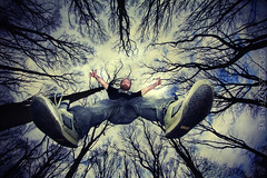69/365 - falling from grace (explore) (possessed2fisheye) Tags: trees forest jumping woods fisheye falling 365 phoenixpark tps creativeselfportrait greatoutdoors opteka fallingfromthetrees 60d 365project fisheyeselfportrait howhighcanyoujump aipf opteka65mmfisheye tallaghtphotographicsociety gettinghoghinthewo