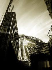 Sony Center (xoan) Tags: trip travel sky building berlin germany sonycenter hitech berlinale cupule
