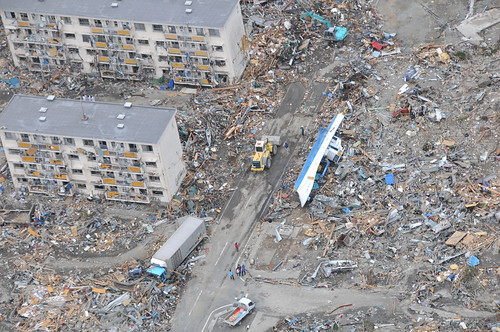 Japan Earthquake scene