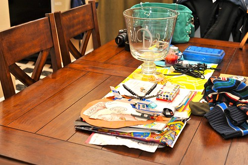 Dining Room Table Clutter