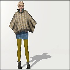 Mila Mini Dotti (Katime Vacano) Tags: fashion boots mini retro secondlife oh casual dots poncho bebedoll amaama kletva