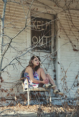 (yyellowbird) Tags: door house abandoned girl vines branches lolita missouri cari keepout moselle franklincounty