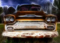 Electric Chevy Fractalius (hz536n/George Thomas) Tags: chevrolet yellow march spring apache rust lab alabama rusty chevy rusted canon5d rusting hdr 38 smörgåsbord 2011 photomatix labcolor ef1740mmf4lusm cs5 fractalius photomatix40 hz536n