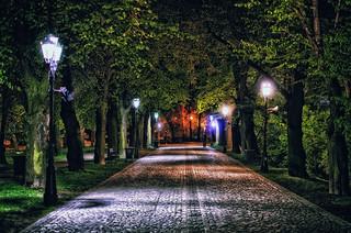 Shot in the night, Rzeszów Poland April 2014