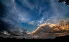 Dramatic Sky Above Gtersloh (Foto_Michel) Tags: fall herbst farben color sky wolken drama dramatic himmel stimmung mood struktur structure weitwinkel wide angel autumn wideangle orange blau blue