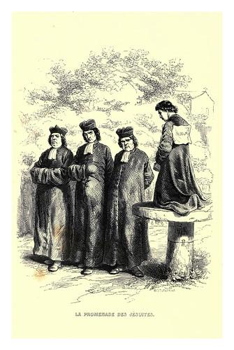 020-El paseo de los jesuitas-Le juif errant 1845- Eugene Sue-ilustraciones de Paul Gavarni
