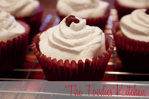 Cranberry Cupcakes with Maple flavored Whipped Cream