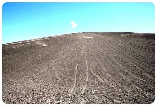Volcano boarders from bottom
