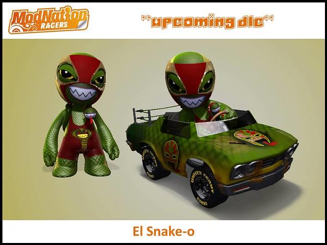 ModNation Racers upcoming DLC: El Snake-o