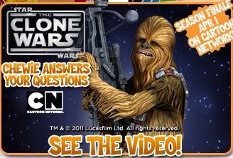 Chewbacca promotion at Yahoo! Kids
