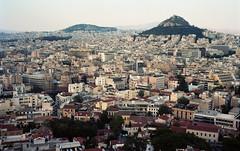 Athenian Cityscape 3 (Meleager) Tags: film vintage kodak athens 45 greece ii porta record billy 6x9 viking acropolis folder ansco 160nc