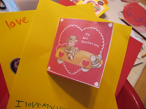 Valentines made for assisted living visit #2