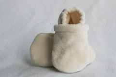 *Newborn* Natural Organic Bamboo Velour Booties