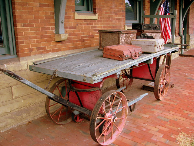 Marion, VA Train Station vintage cart