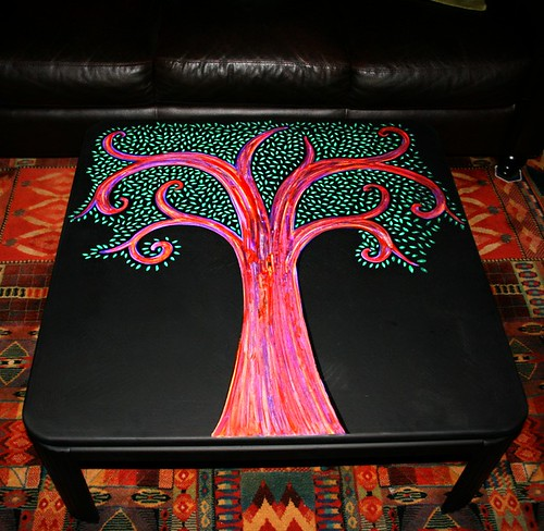 "42"" x 42"" Coffee Table by Rick Cheadle Art and Designs"