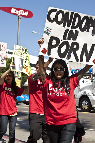 Condoms in Porn/ Larry Flynt Protest