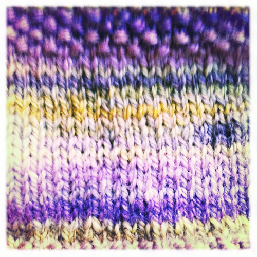 This handspun knits up REAL nice