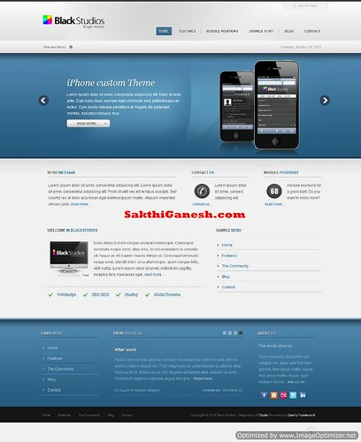 Black Studios Creative Joomla Theme