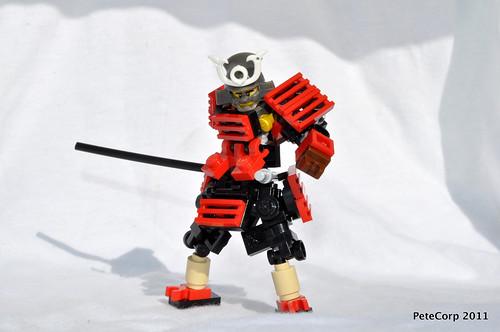 Custom minifig Chibi Samurai