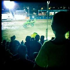 Little Boy Watching a Big Truck by Jason Willis