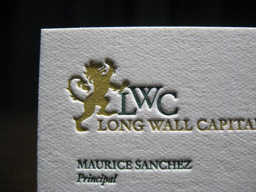 Long Wall Capital Business Cards