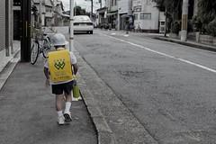 School kid, Kyoto (Florent Chevalier) Tags: japan kid kyoto child  japo japon giappone japani schoolboy jepang  japonia  japonya bn  nht jaapan japonska japonsko   japonija  japna