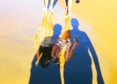 Water Art:  Layered colours on and in wet sand. (peggyhr) Tags: ocean pink blue sea brazil white black beach shadows legs florianpolis couples overlay textures harmony layers colourful santacatarina ochre soe musictomyeyes praiadosingleses wetsand finegold reflectionsdistortions hiddentreasure thegalaxy artisticshot reflectioins 25faves peggyhr flickrbronzeaward artistspotlight flickridol artisticimpressions peaceawards vanagram vanagrammofontheoldgramophone thedigitographer 100commentgroup doubledragonawards artofimages angelawards getcreativeonflickr hablahispana visionaryartsgallery lovelyflickr sapphireawards pegasusaward zodiacawards mygearandme artwithoutend lomejordemisamigos vangoghaward ringexcellence nossasvidasnossomundoourlifeourworld avpa1maingroup level1photographyforrecreation thethreeangelslevel1blueangel blinkagainforinterestingimages thebestshots bestofblinkwinners redgroupno1 bwstripedswimmingtrunks 0739fp