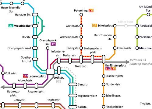 Baustellennetzplan-Ausschnitt: Baumaßnahme Nordbad ab 11. April 2011