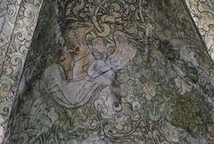 Helsingr, Sjlland, Sct. Mari kirke, vault painting, detail (groenling) Tags: angel painting denmark mural zealand dk vault viola danmark helsingr elsinore sjlland kalkmaleri sctmarikirke mmiia
